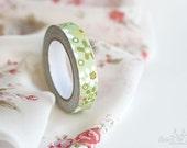 Green Flower Adhesive Fabric Tape
