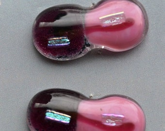 Fused glass Toggle Buttons