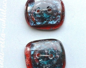 Fused glass Buttons
