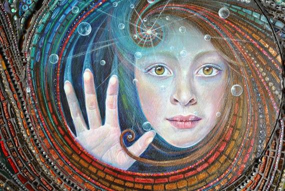 SOLD Mosaic art, mixed media, acrylic painting -The Underworld SOLD