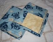 Pirate themed large flannel baby blankets