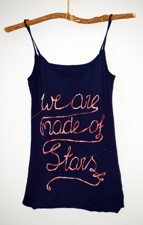 Hand painted milky way galaxy nebula space universe stars vest top