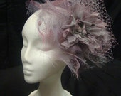 COUTURE FASCINATOR HAT for weddings,cocktail and special events. Collection 'Violette'.