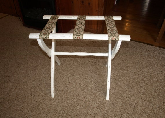 Vintage Shabby Chic Luggage Rack
