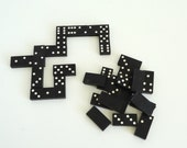 Wooden Dominoes Vintage Instant collection of 24