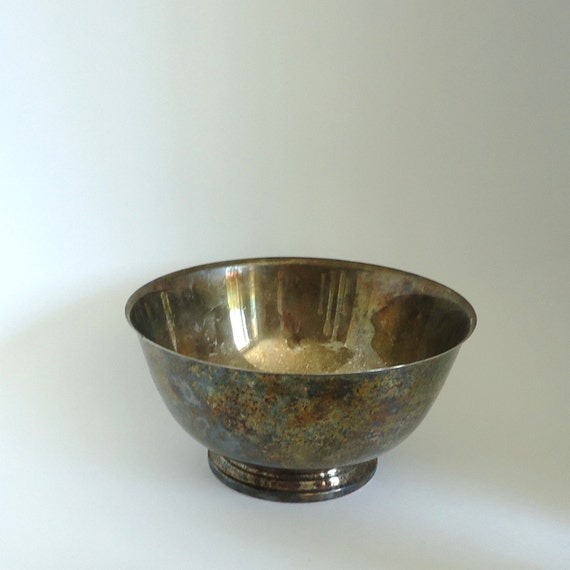 Vintage Kitchen Silver Plated Bowl Fruit Bowl By Raggedyree