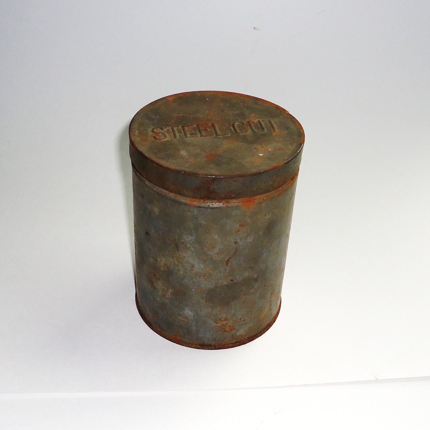 antique tin coffee can by raggedyree on etsy