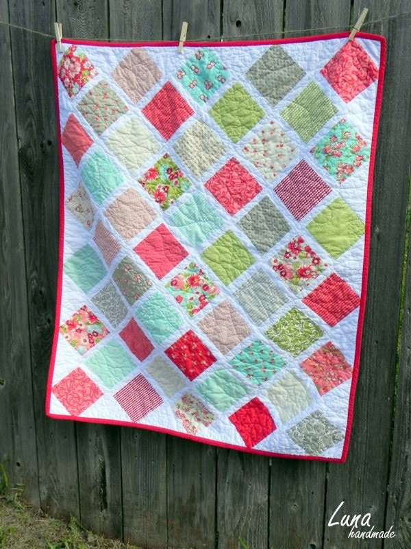 Charm Pack Baby Quilt Ruby By Bonnie And Camille For Moda