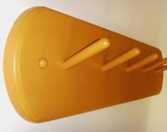 "Modern 24"" Coat Rack in Italian Mustard"