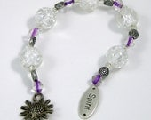 Gratitude Beads, Sunflower Spirit with Crackle Beads