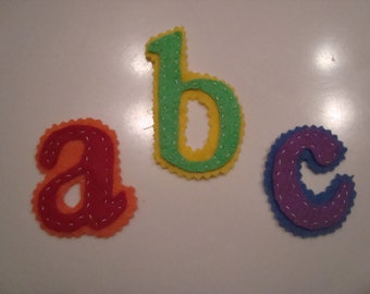 Alphabet felt letters, Double layer, pick any color combination.