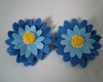 Set of 2 baby blue hair clips.