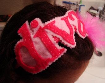 Felt and feather DIVA headband