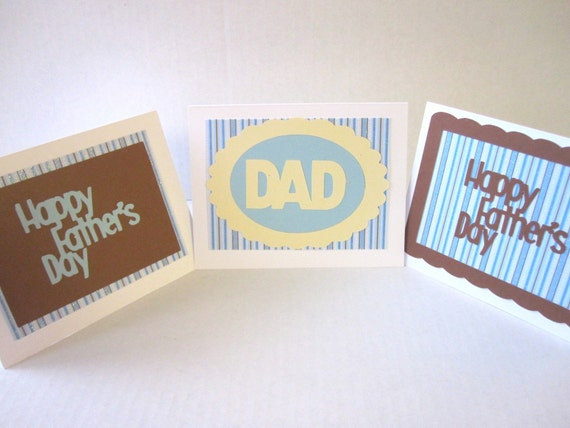 RESERVED FOR TCOX- Father's Day Cards Set of 3 Happy Father's Day Dad Grandpa Father in Law Brother Brother in Law Uncle