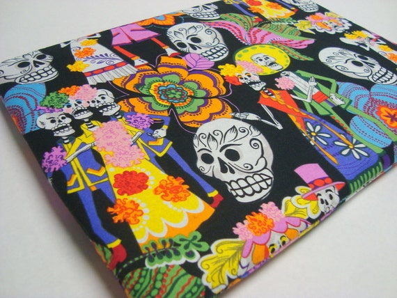 Day of the Dead Laptop Sleeve / 13 inch MacBook Pro Case Cover/Custom Sizes Available / Great Gift, Direct From Funtastic Sleeves