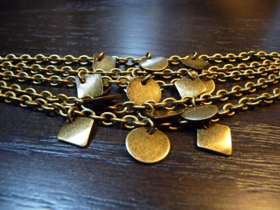 Rustic multi-chained charm bracelet by vintagerust