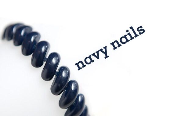 navy blue napier shiny glossy enamel vintage bracelet simple clasp