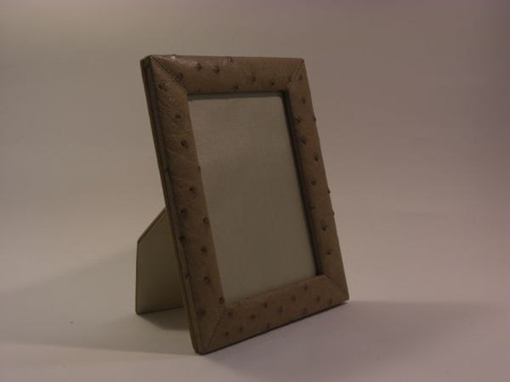 Ostrich leather picture frame