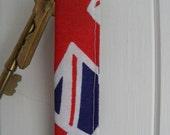 Union Jack Keyfob, keyring, keychain for Fathers Day