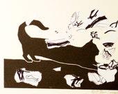 Monotype Black cat