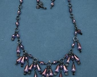 Lavender Purple Luster Necklace