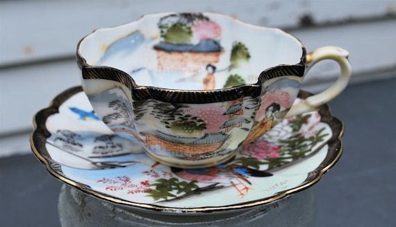 Vintage Ardalt Lenwile Occupied Japan Numbered Tea Cup and Saucer