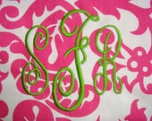 Monogram for Laundry Bag (5 and three-quarters-inch)  - Dorm Bedding