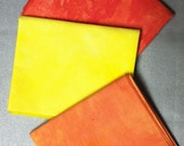Hand Dyed Fat Quarters - Hot