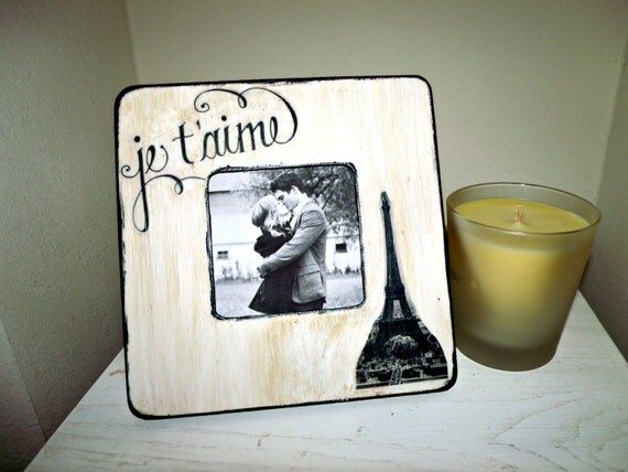 Je t'aime Eiffel Tower Picture Frame