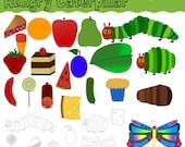 Hungry Caterpillar Digital Clip Art Set