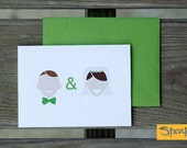 Mr & Mrs Thank You Card - Wedding