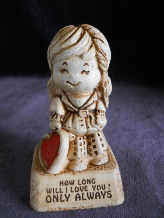 Paula Vintage Figurine Desk Decor  1970s Novelty Gift Mother's Day