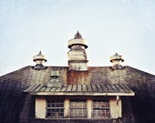 abandoned building photo - cupola - modern wall art - fine art photography - roof photograph - window photography - home decor