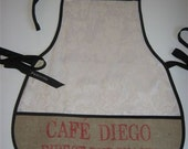 Recycled Full Length Coffee Sack Apron