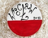 Wroclaw Euro 2012 football polish flag coaster