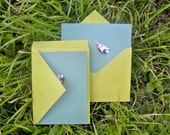 Stationery Set: 8 Turquoise Bird Notecards (blank)