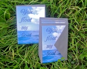 """Water Stationery Set of 8: """"You float my boat"""""""