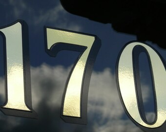 4 x Gold Transom or Fanlight House Numbers