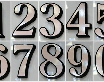 1 x Silver Transom or Fanlight House Number