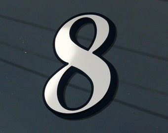 1 x White Transom or Fanlight House Numbers