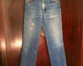 High Waisted Wrangler 70's Womens Jeans Size 26-Perfect Faded Blue-Straight Leg