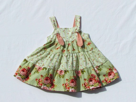Little Girls Sundress with Knot Ties 4T