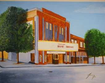 Georgia Theatre in Downtown Athens, GA near UGA framed print 11 X 14 - Introductory SALE price