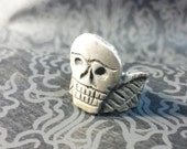 Death's Head Unisex Sterling Silver antiqued Ring