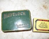 Havelock green tobacco tin