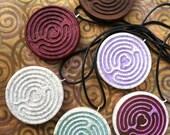 Open Heart Labyrinth Pendant