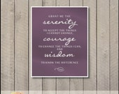 Custom Listing for kwash925 - Serenity Prayer