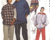 Unisex pattern Top Sweatshirt Pants and shorts for stretch knits only McCalls 6898 size SML