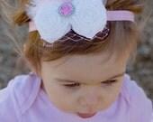 Fabric Rose Over The Top Headband