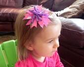 Princess and Frog Pinwheel Spike Hair Bow